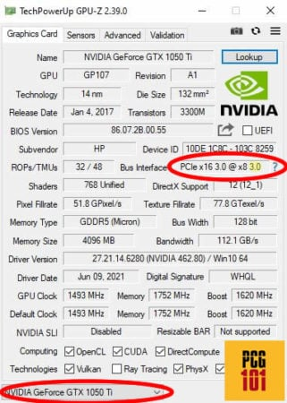 techpower up pcie version