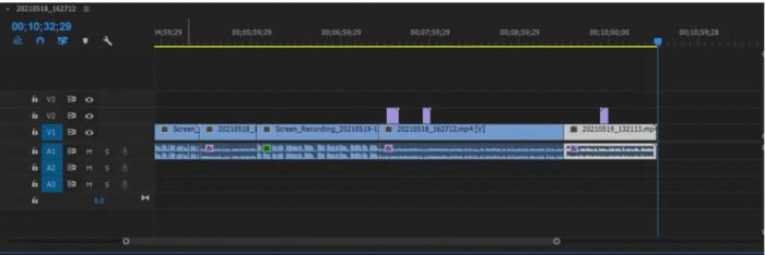 Loading footage to timelines