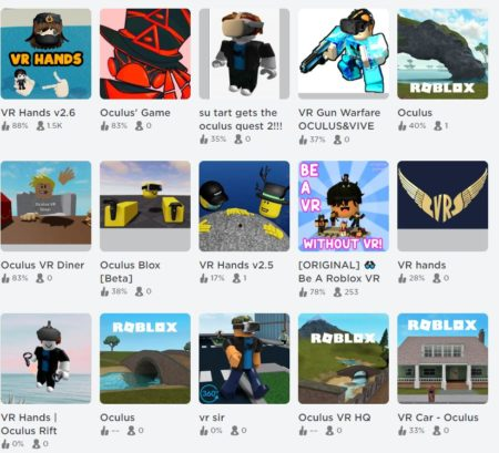 Roblox VR Games