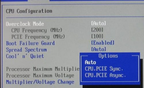 bios pcie frequency overclock