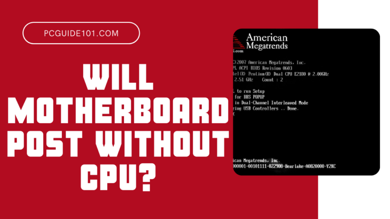 will motherboard post wihout CPU