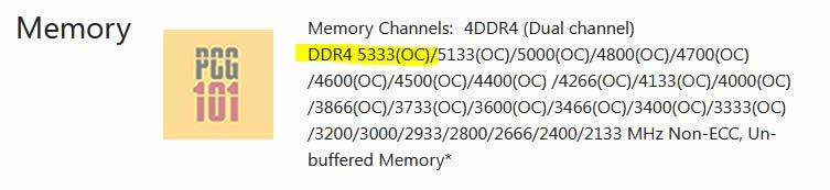 5333 MHz Intel
