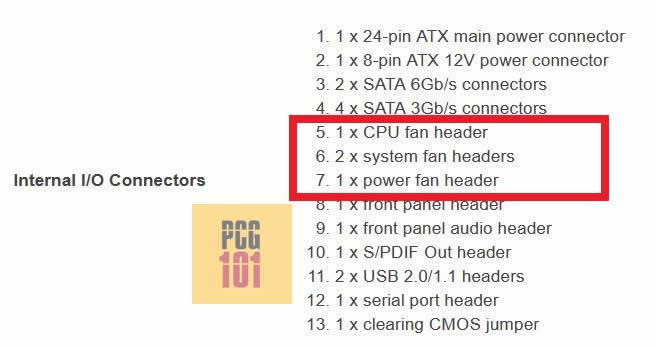 Fan Header specification Gigabyte motherboard watermark