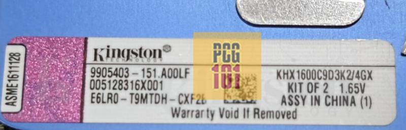 RAM stick label model