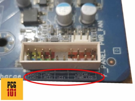 What are Front Panel Connectors labelled