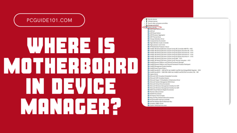 Where is motherboard in device manager