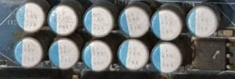 capacitors on motherboard vrm