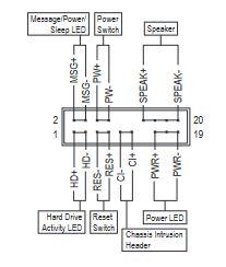 front panel header connectors labels manual
