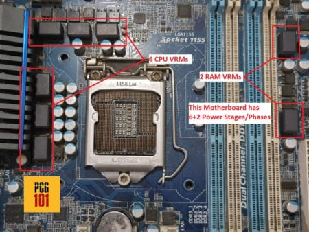 motherboard vrms labelled box phase power design w